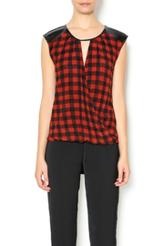 THML Clothing Red Black Sleeveless Top - Product Mini Image