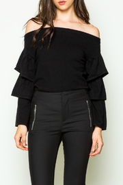 Thml Ruffle Sleeve Top - Product Mini Image