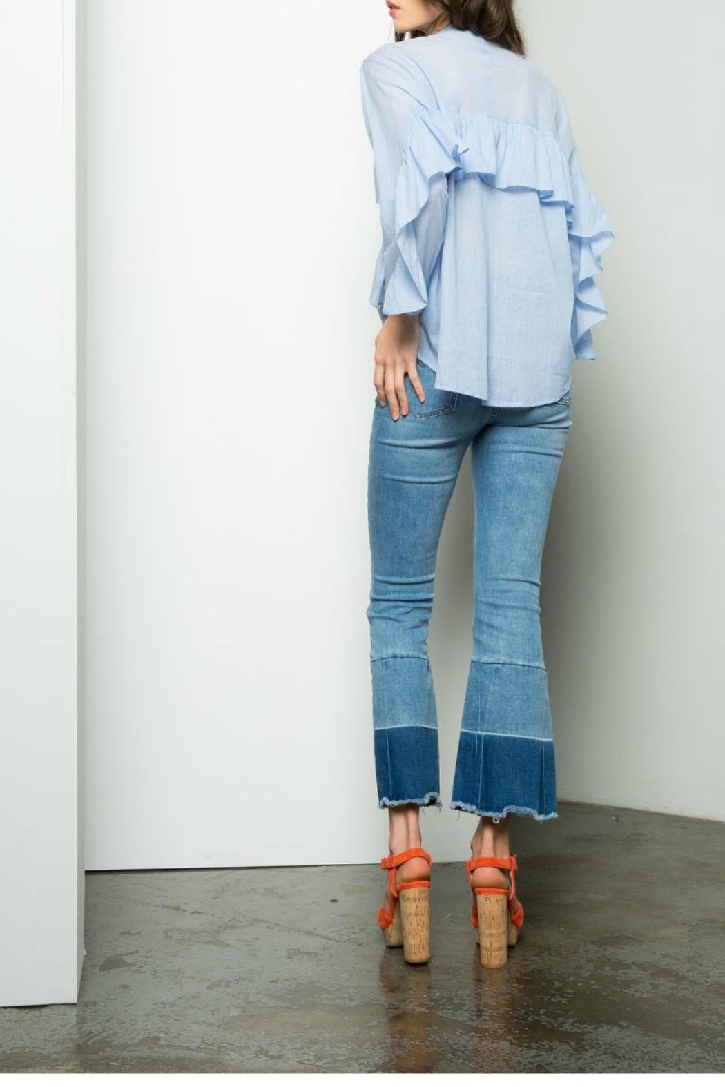 Thml Ruffle Sleeve Top - Side Cropped Image