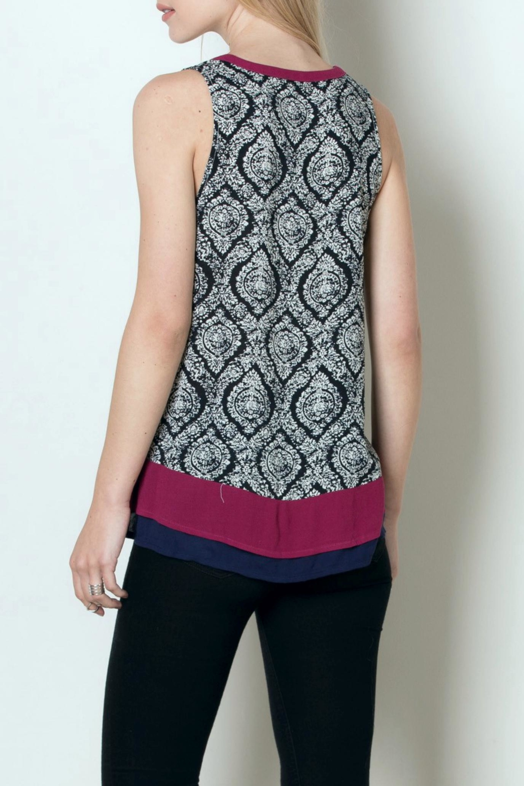 Thml Sleeveless Printed Top - Side Cropped Image