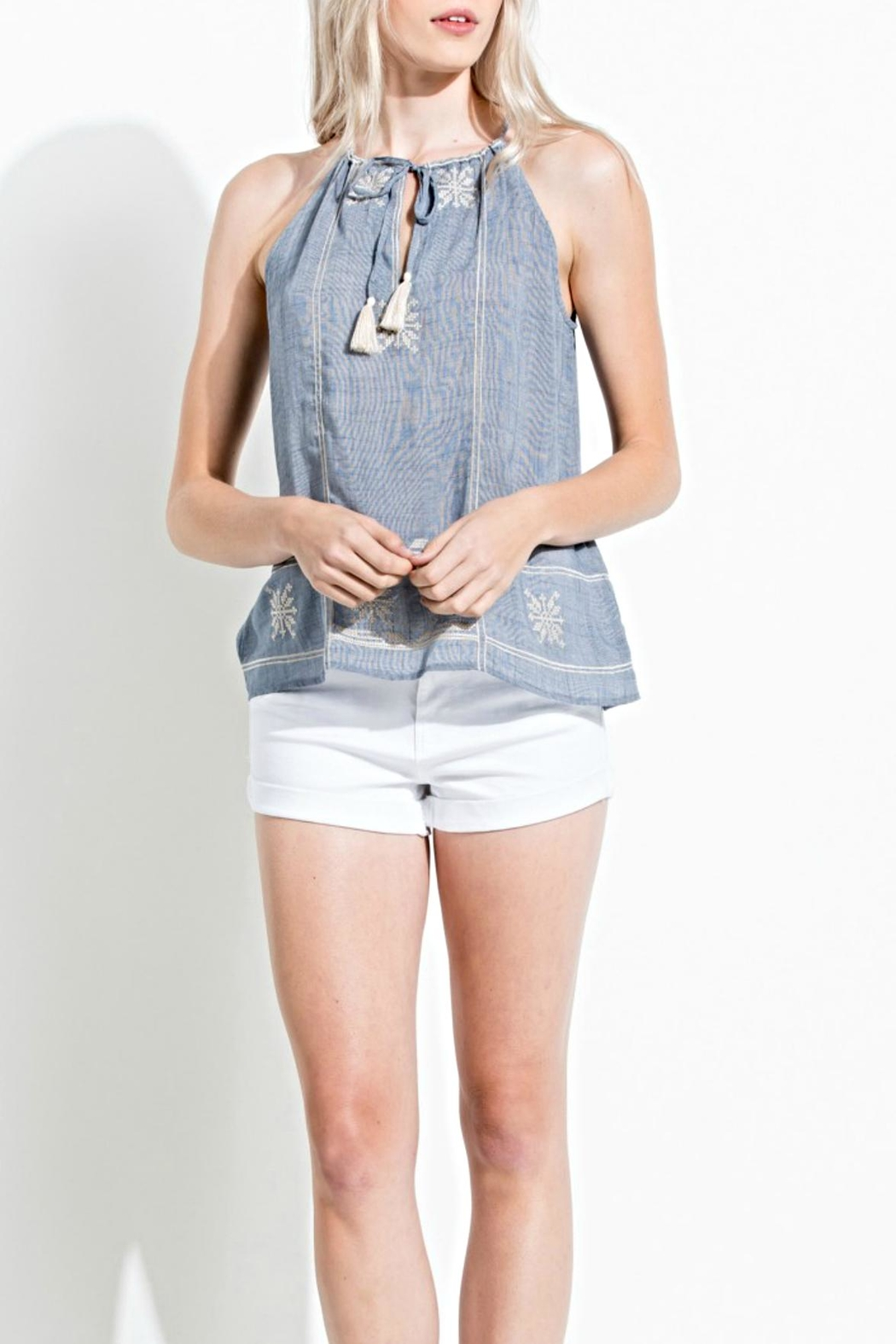 Thml Sleeveless Tie Top - Main Image