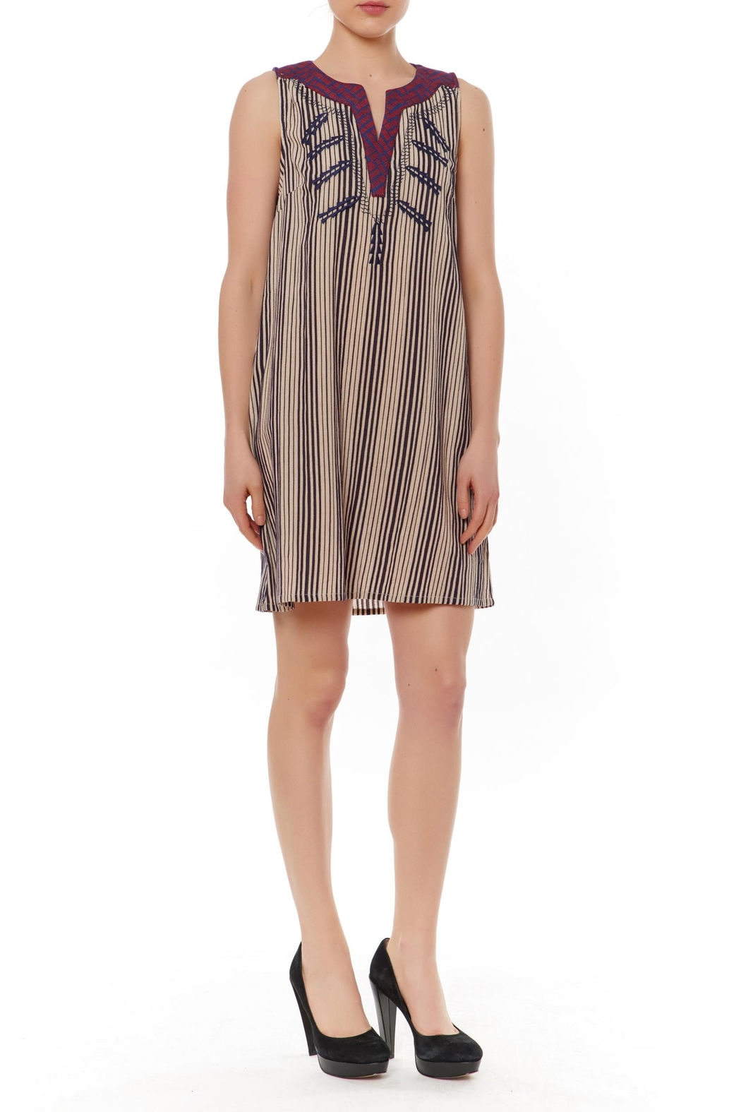 Thml Slvless Stripe Dress - Main Image