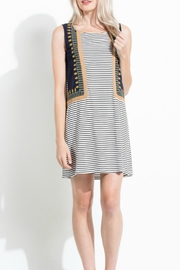 THML Clothing Stripe Embroidered Dress - Product Mini Image