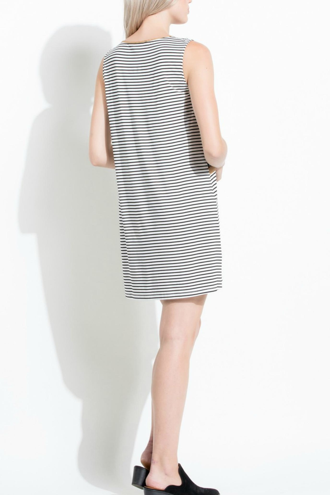 Thml Stripe Embroidered Dress - Side Cropped Image