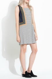 Thml Stripe Embroidered Dress - Front full body