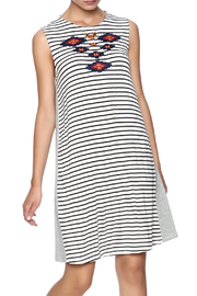 Thml Stripe Embroidered Dress - Product Mini Image