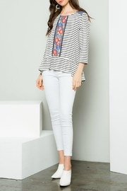 Thml Stripe Peplum Top - Product Mini Image
