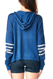 LE SAMPLE Stripe Sweater Hoodie - Front full body