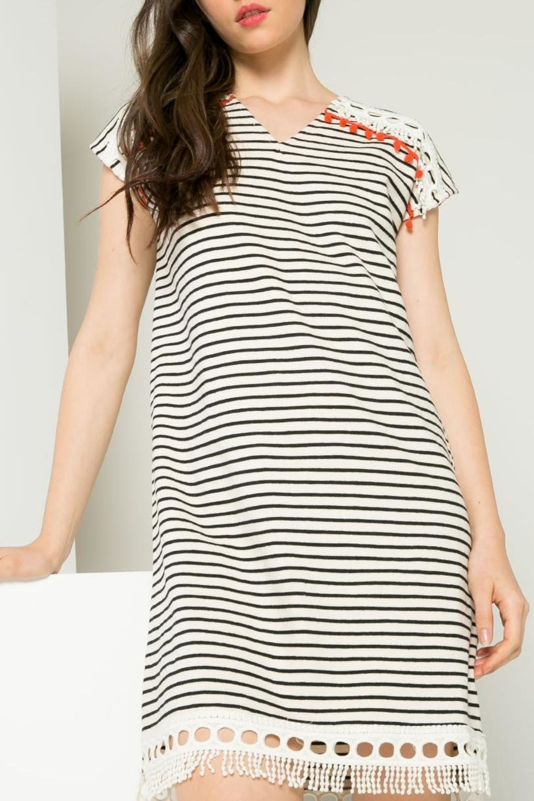 Thml Striped Dress - Back Cropped Image