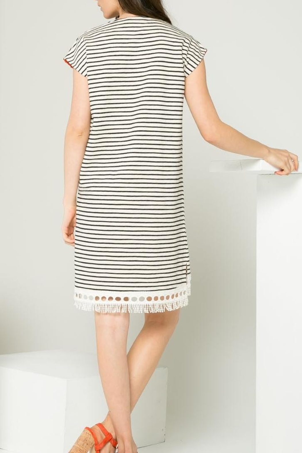 Thml Striped Dress - Front Full Image