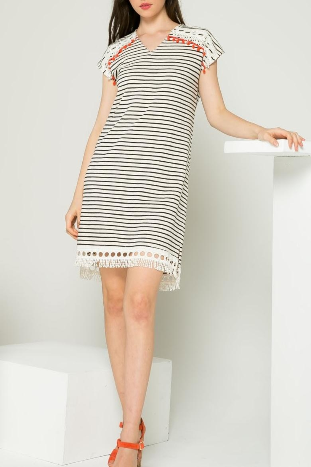 Thml Striped Dress - Front Cropped Image