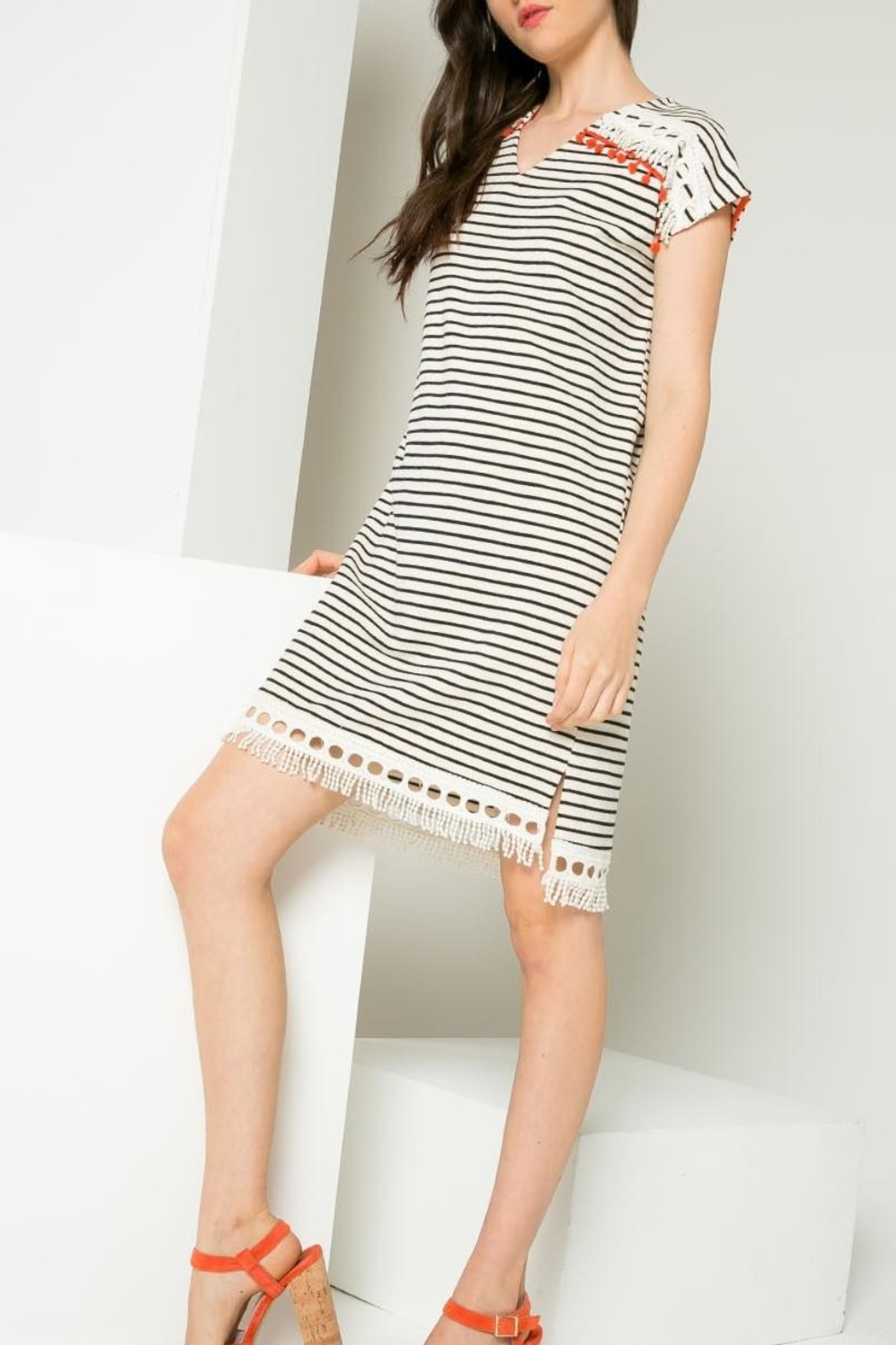 Thml Striped Dress - Side Cropped Image