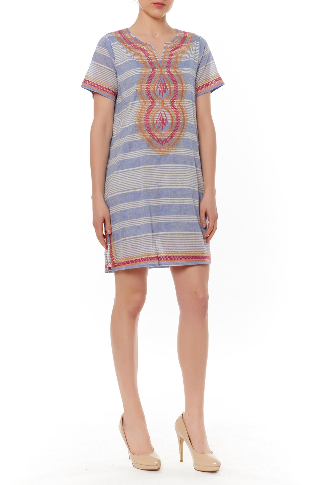 Thml Striped Embellished Shift - Main Image