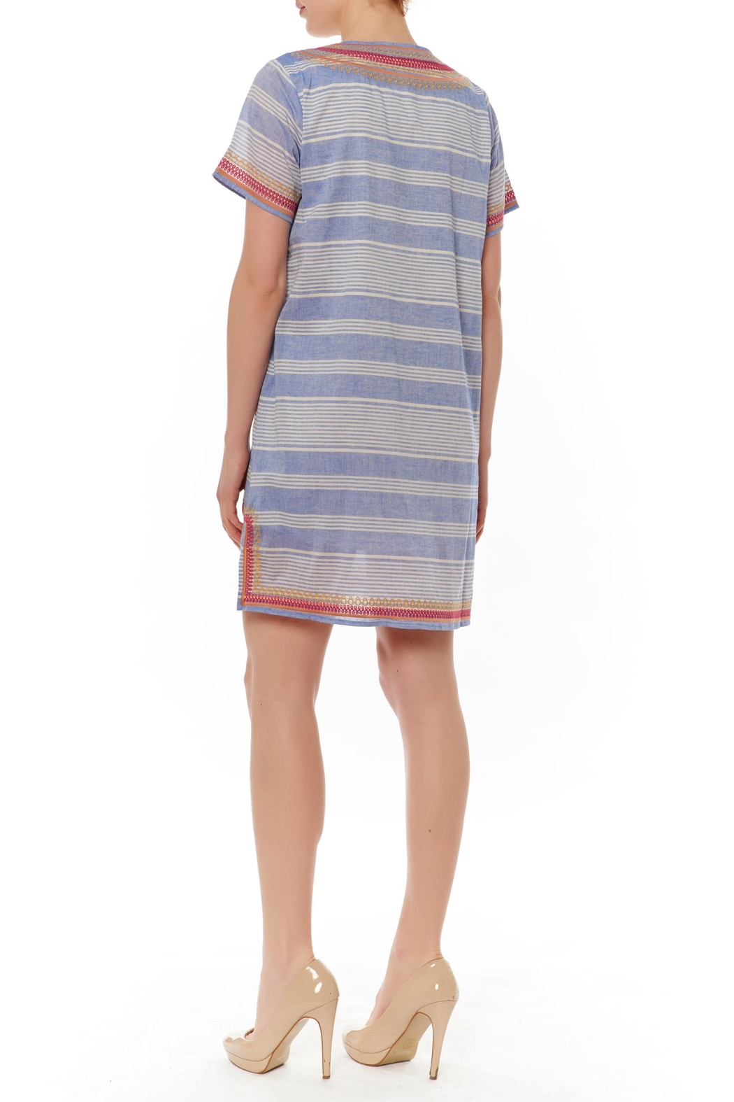 Thml Striped Embellished Shift - Front Full Image
