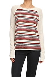 Thml Striped Raglan Top - Product Mini Image