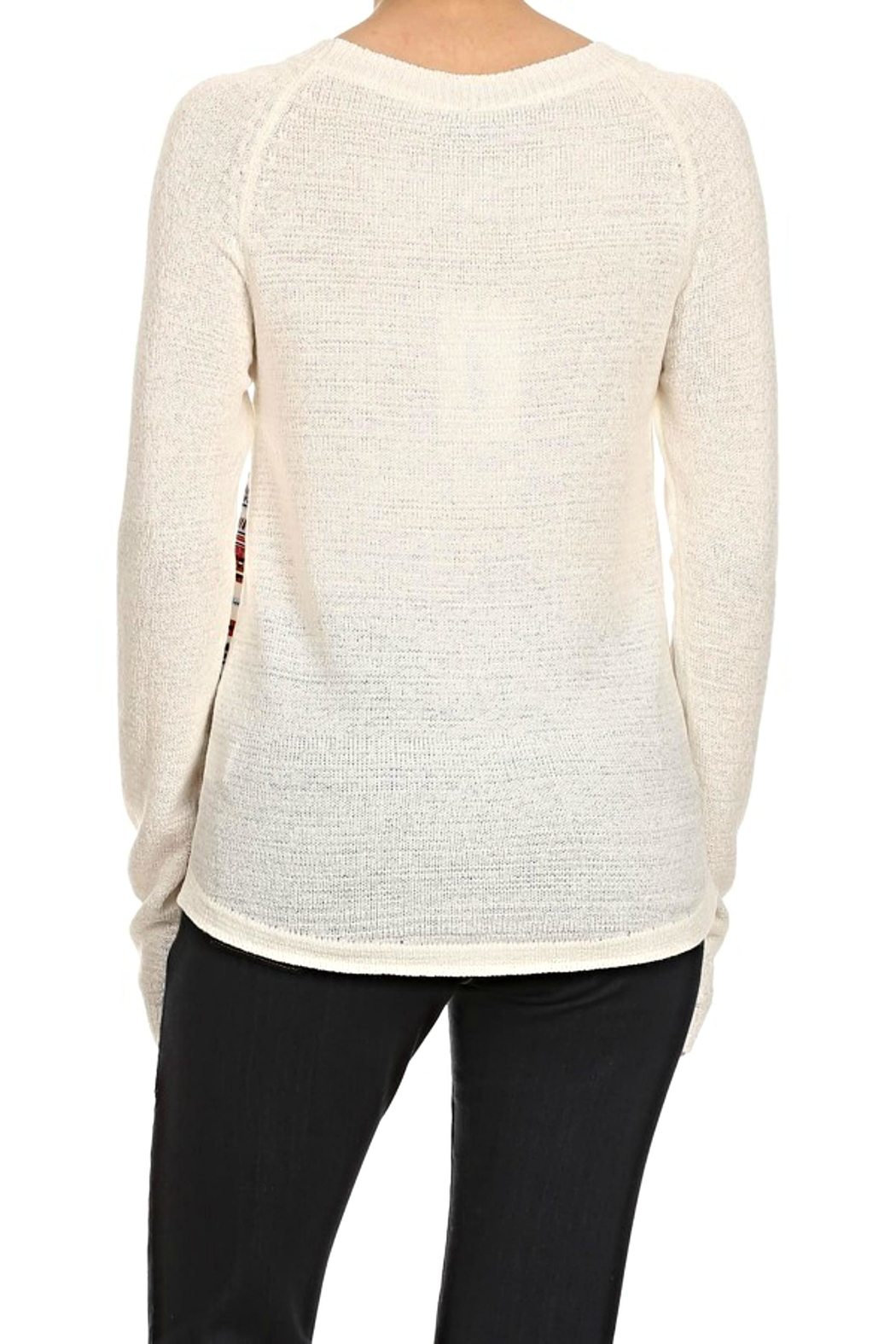 Thml Striped Raglan Top - Front Full Image