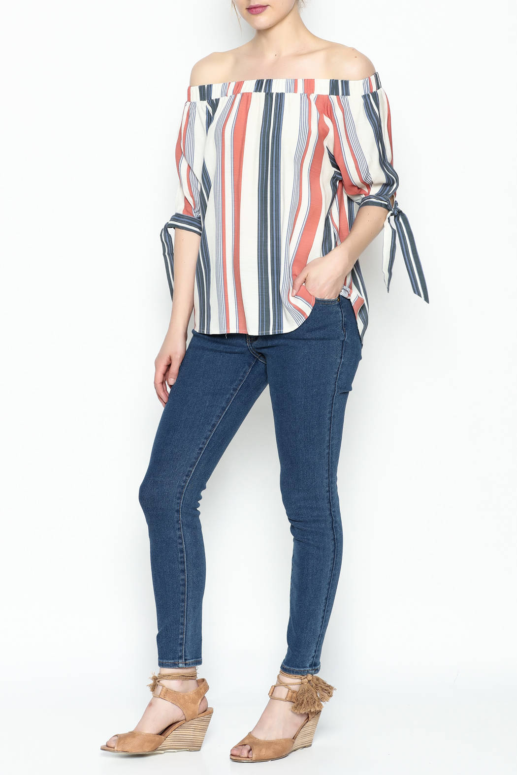 Thml Summer Stripes Top - Side Cropped Image