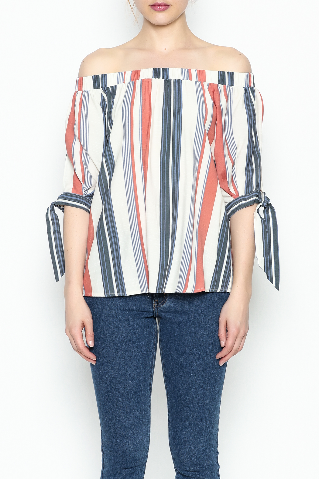 Thml Summer Stripes Top - Front Full Image