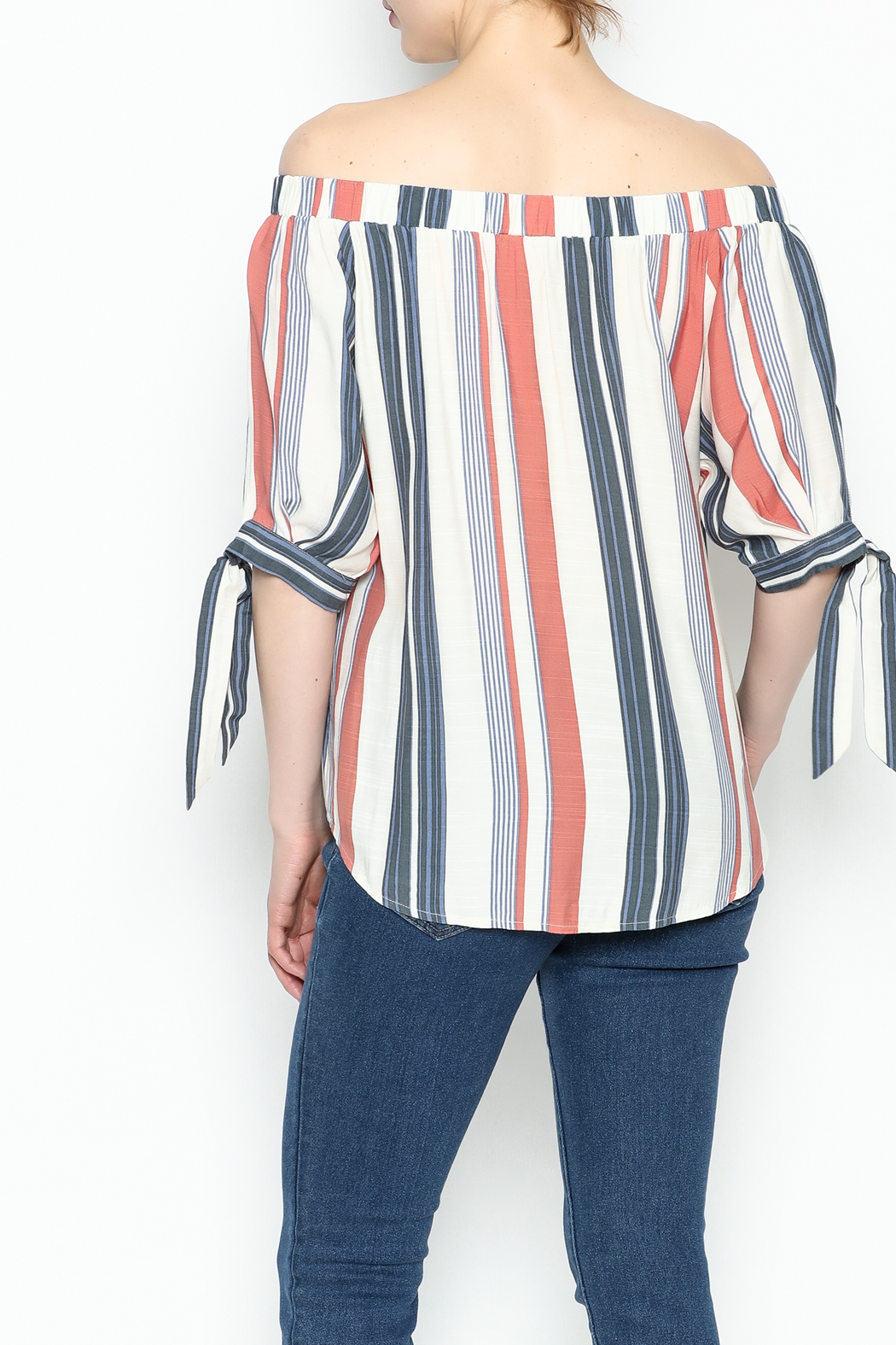 Thml Summer Stripes Top - Back Cropped Image