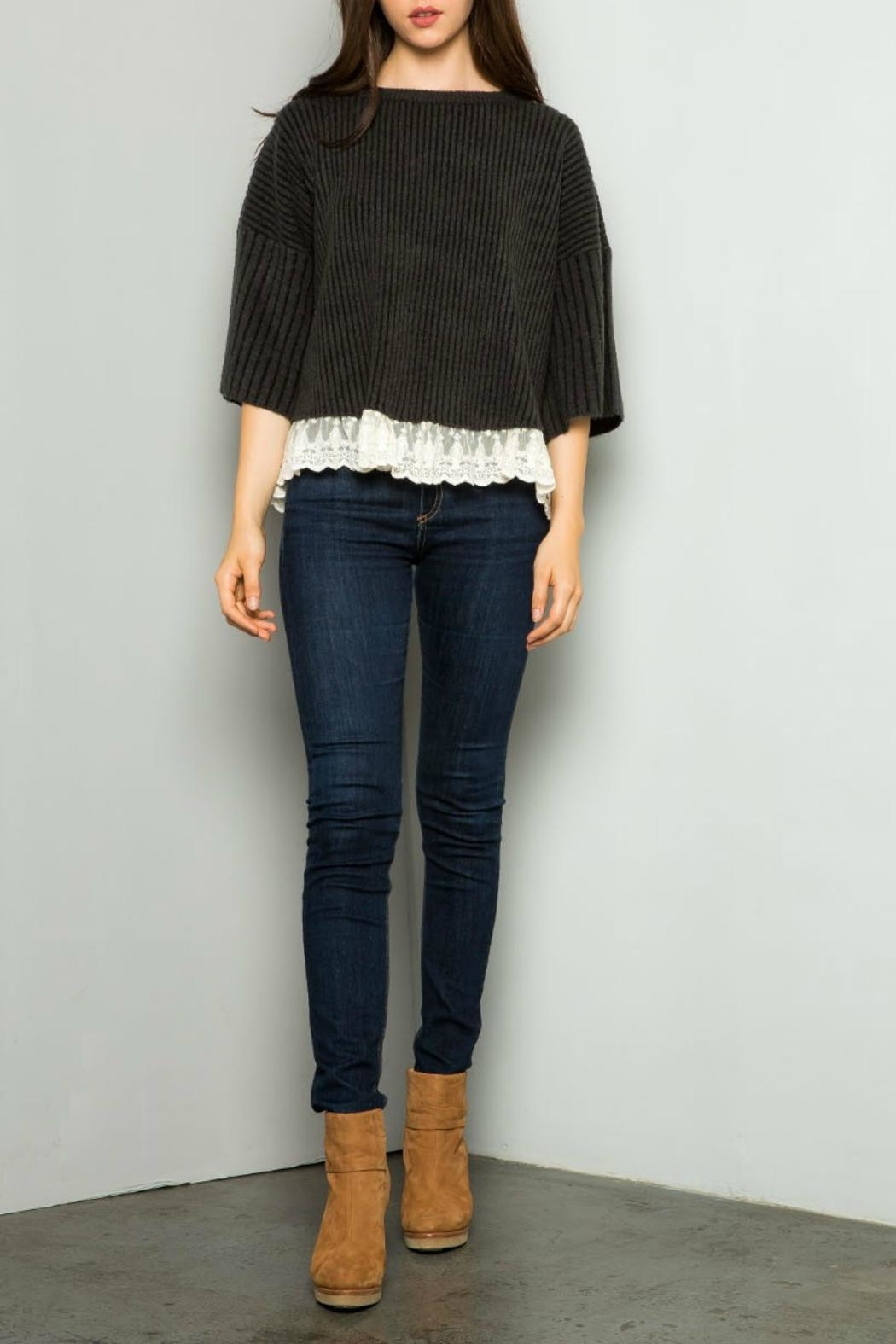 Thml Texured Crop Sweater - Main Image