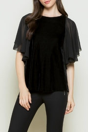 Thml Velvet Black Top - Product Mini Image