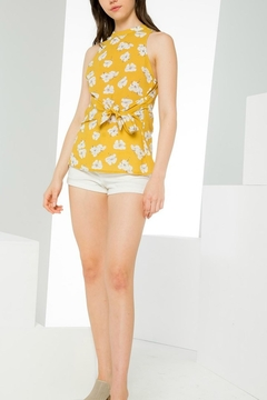 Shoptiques Product: Yellow Floral Tank