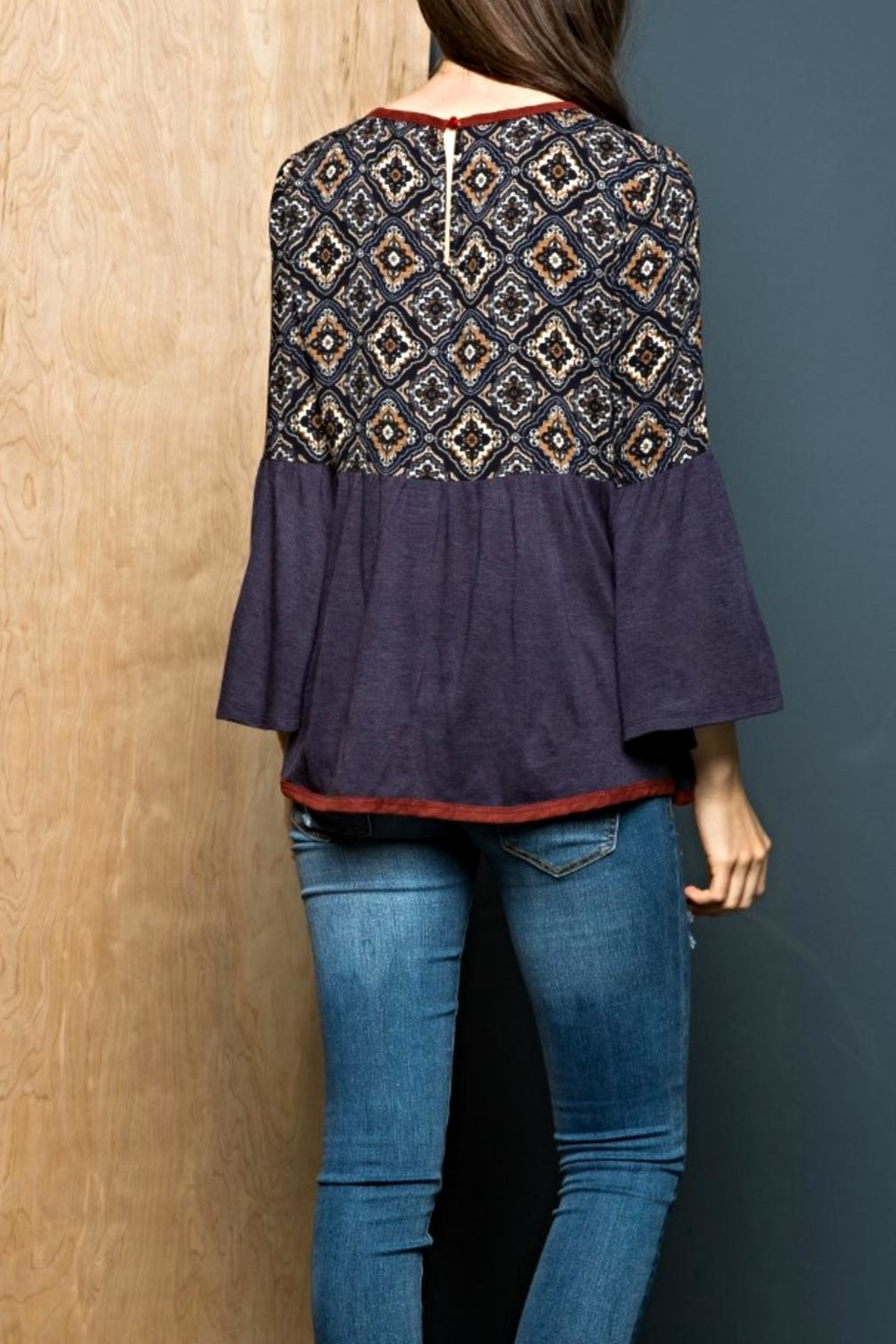 THML Clothing Bell Beauty Top - Front Full Image