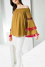 THML Clothing Bell Pommed Top - Product Mini Image