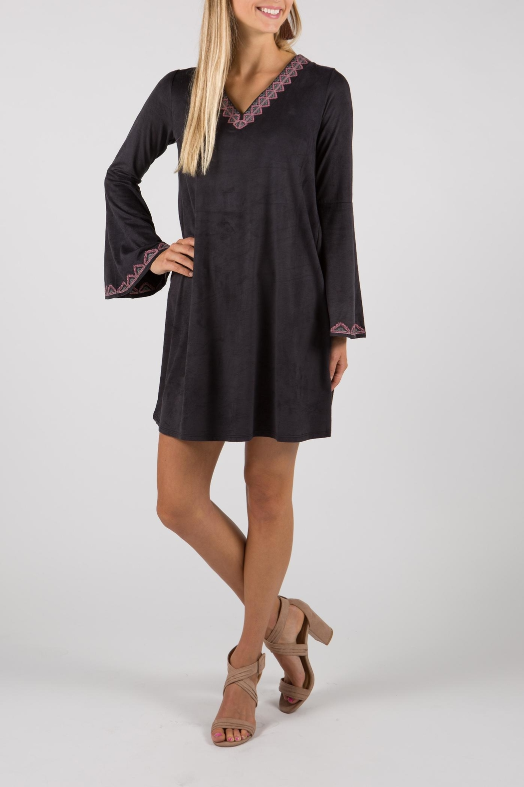 THML Clothing Bell Sleeve Dress - Back Cropped Image