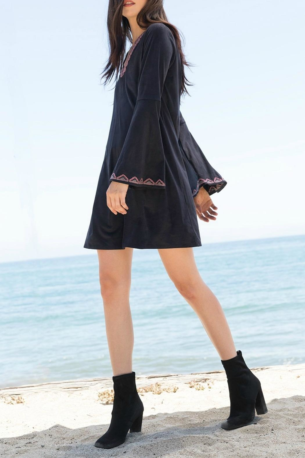 THML Clothing Bell Sleeve Dress - Front Cropped Image