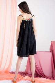 THML Clothing Black Embroidered Mini - Back cropped