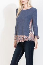 THML Clothing Blue Mosaic Top - Product Mini Image