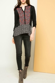 THML Clothing Bohemian Inlay Top - Product Mini Image