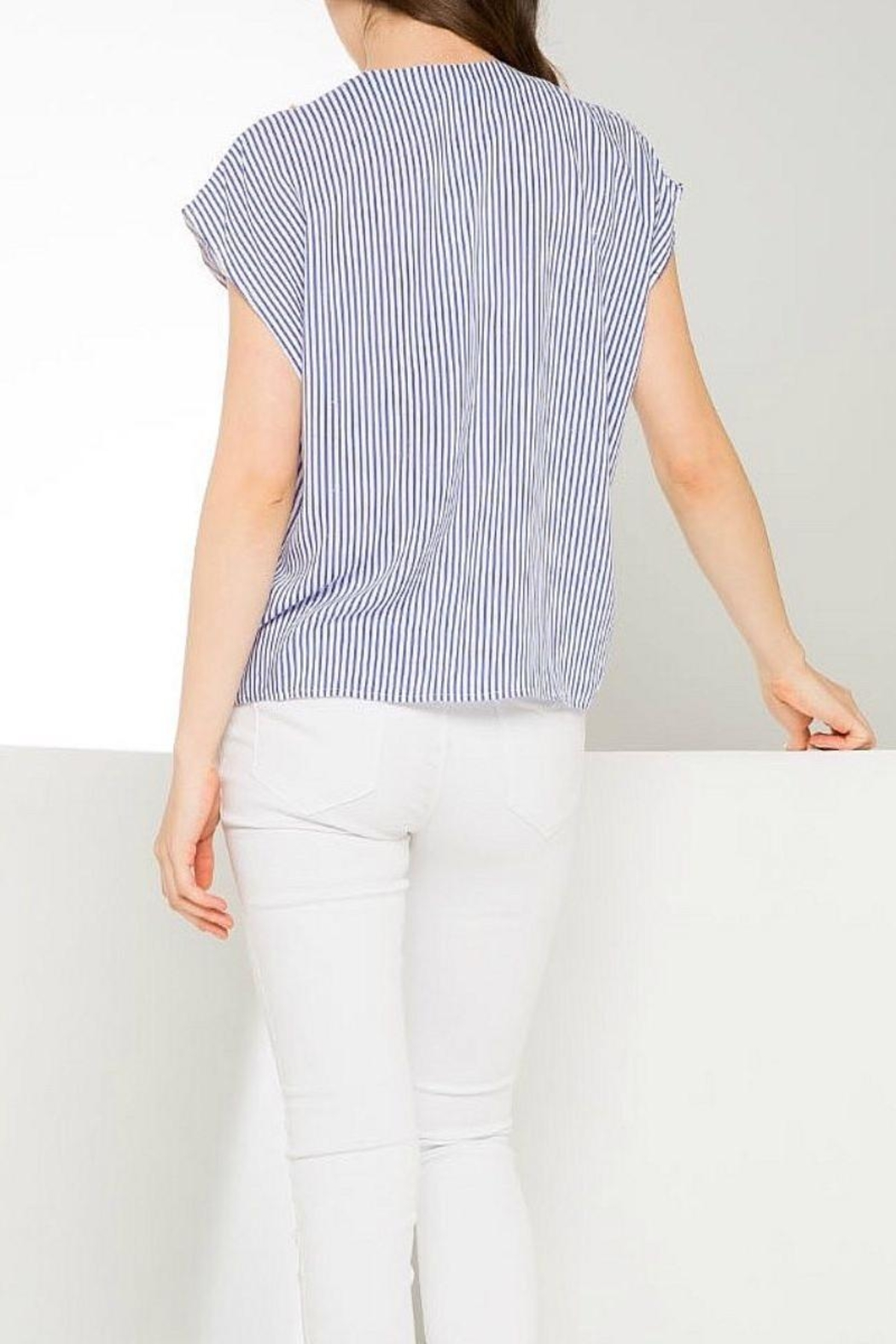 THML Clothing Bright Striped Shirt - Front Full Image