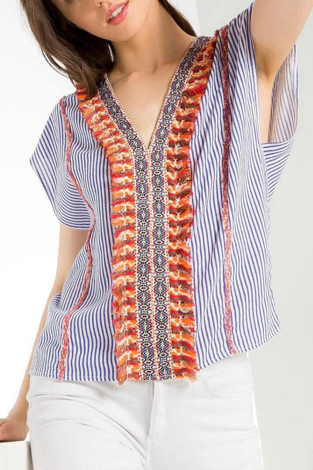 THML Clothing Bright Striped Shirt - Main Image