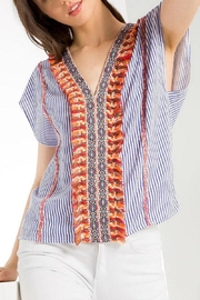 THML Clothing Bright Striped Shirt - Product Mini Image