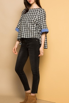 THML Clothing Checkered Flared Top - Product List Image