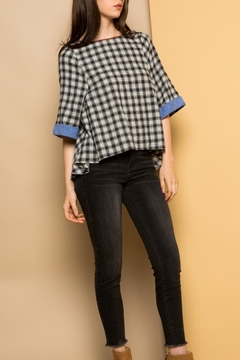THML Clothing Checkered Flared Top - Alternate List Image