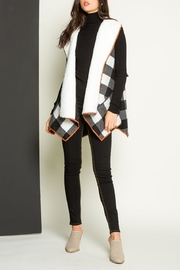 THML Clothing Checkered Shearling Vest - Front full body