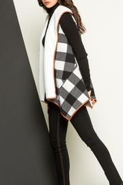 THML Clothing Checkered Shearling Vest - Side cropped