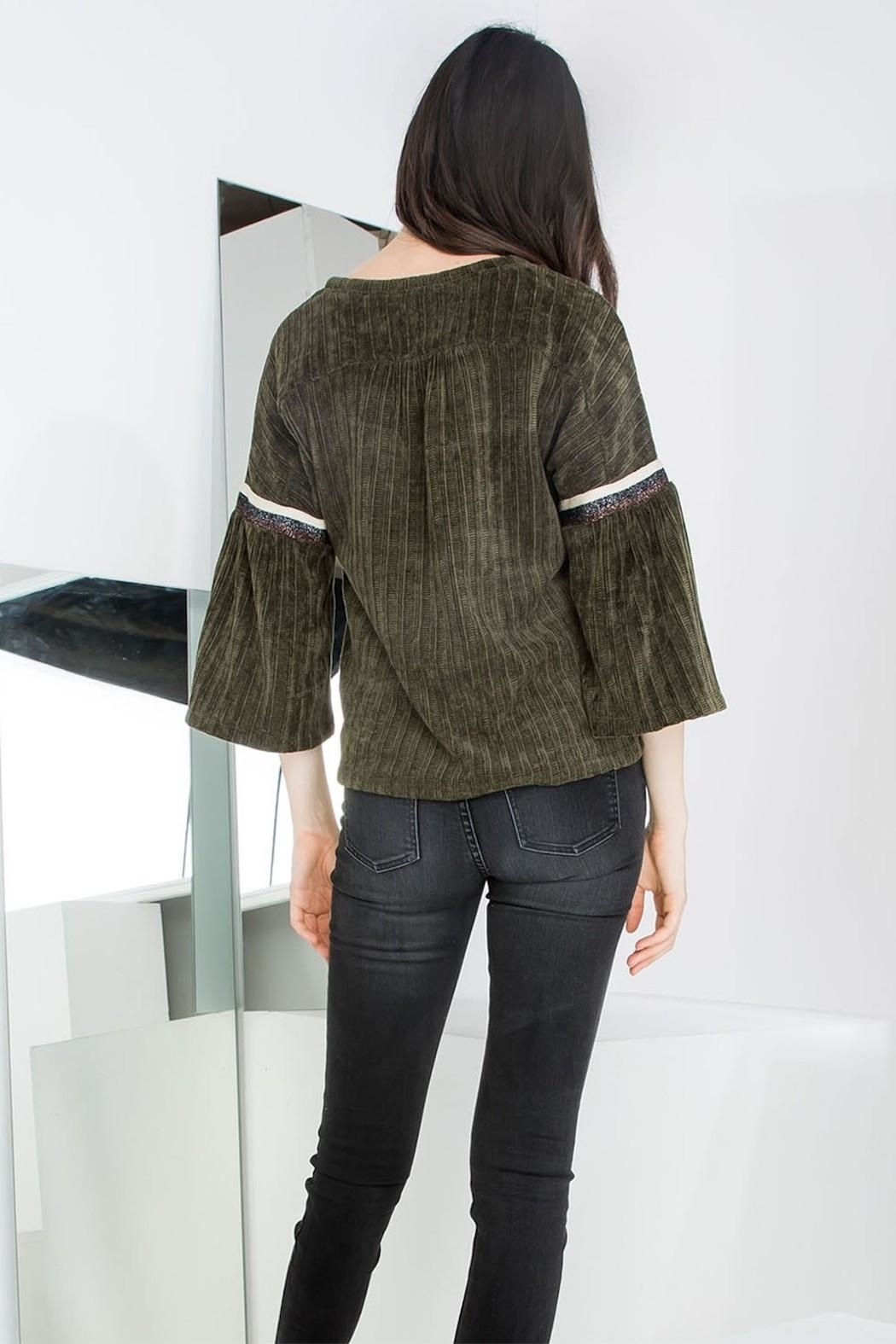 THML Clothing Chenille Bell Sleeve - Side Cropped Image