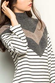 THML Clothing Chevron Striped Sweater - Product Mini Image