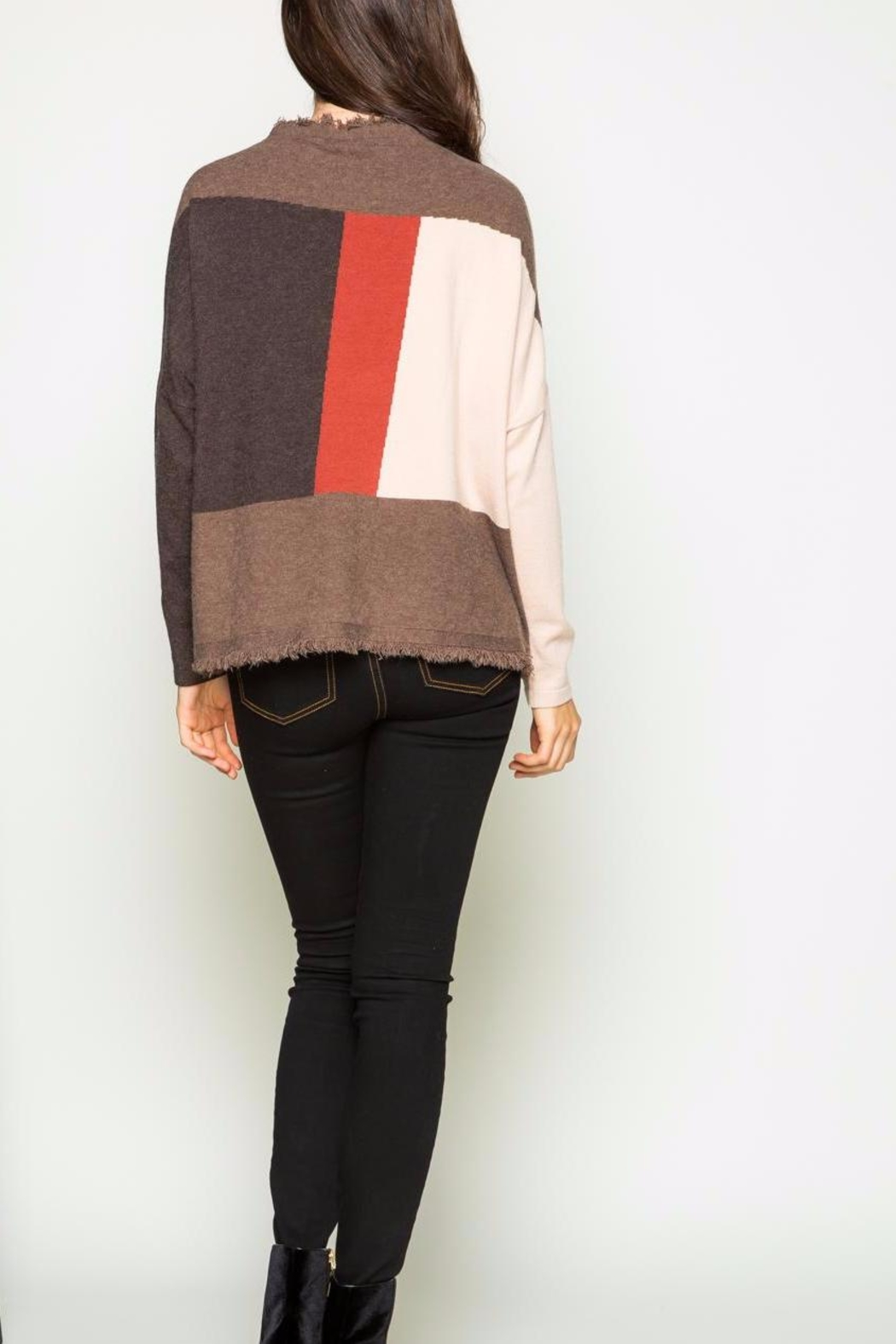 THML Clothing Color Block Sweater - Front Full Image