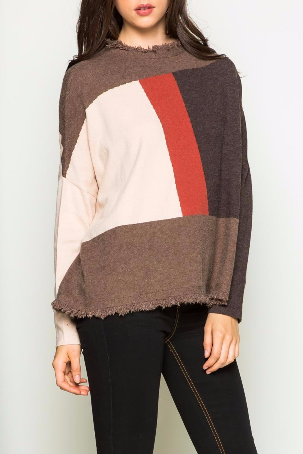 THML Clothing Color Block Sweater - Main Image