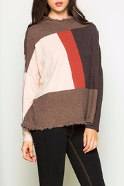 THML Clothing Color Block Sweater - Front cropped