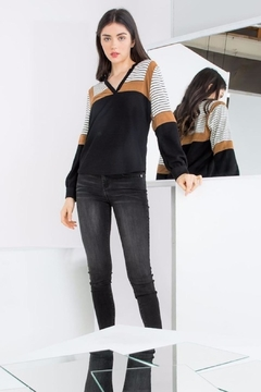 THML Clothing Color Blocked Top - Product List Image