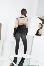THML Clothing Color Blocked Top - Back cropped