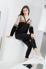 THML Clothing Color Blocked Top - Front full body