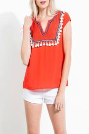 THML Clothing Coral Tassel Top - Product Mini Image