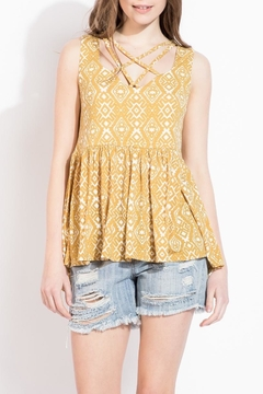 THML Clothing Flounce Criss Cross Tank - Product List Image